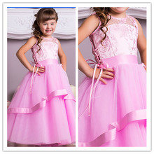 2015 New Hot PInk Organza Long Ball Gown Colorful Sleeveless Flower Girl Dresses Bridal Party Dress Junior Bridesmaid Dresses