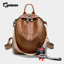 CGMANA Multi-Function Backpack Female 2018 Women Soft Leather Ladies Shoulder Bags School Bag For Teenage Girl