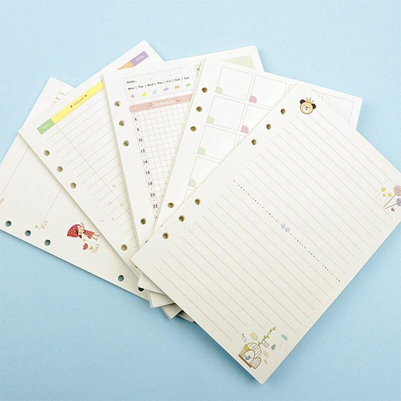 1 Pc A5/a6 Kawaii Bunte Tagebuch Minen Spirale Notebook Ersetzen Farbe Kern Briefpapier Geschenk Schule Planer Ring Binder Papier