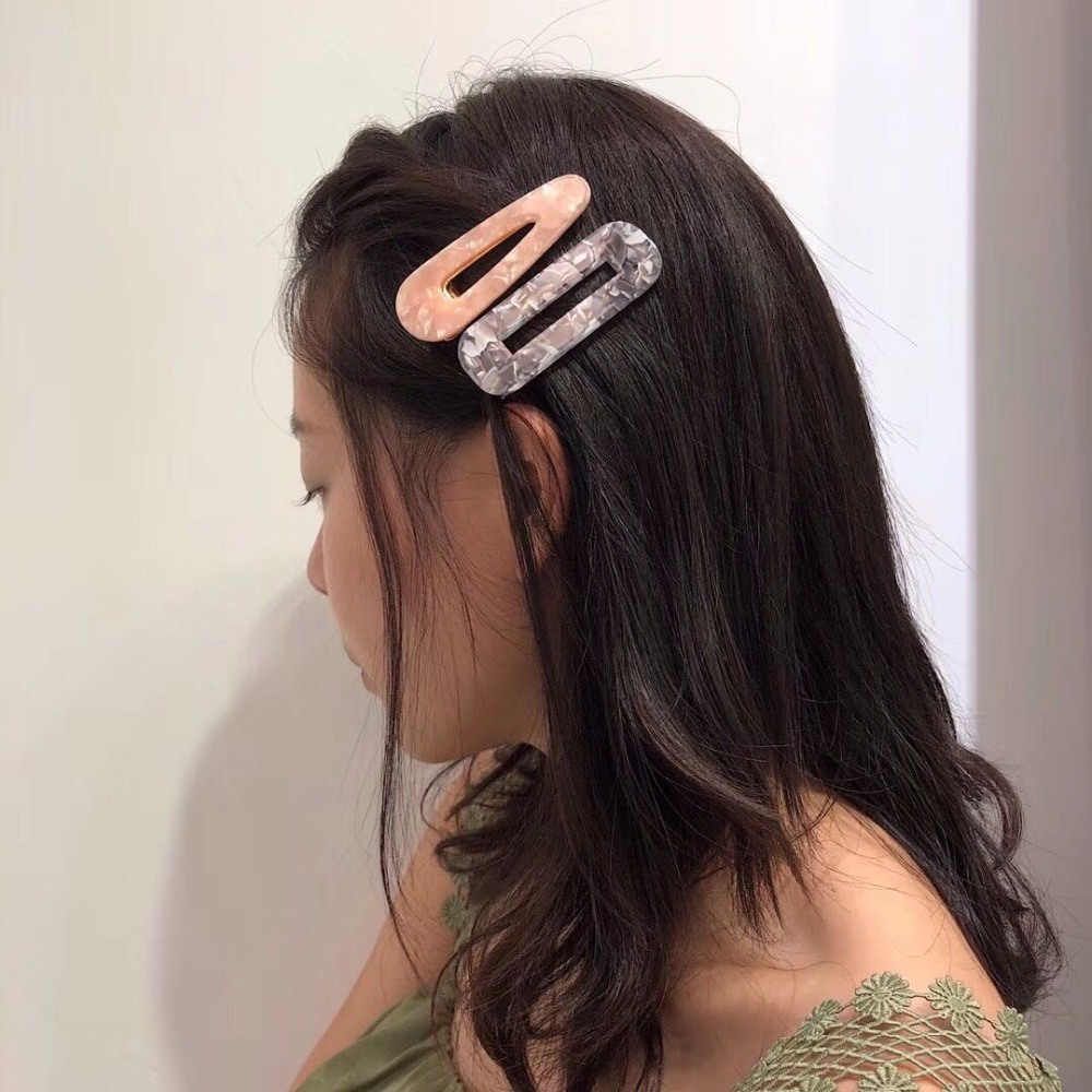 Aomu Japan Acetate Geometric Rectangle Hair Clips Hairpins For Women