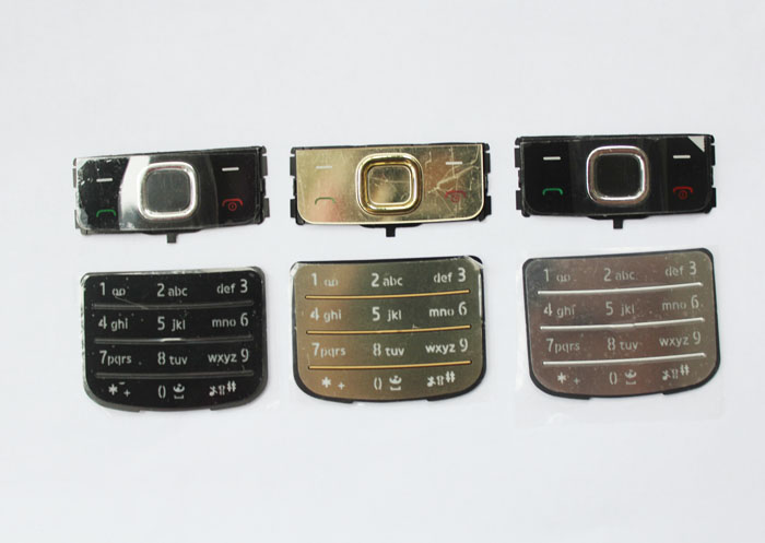 10 sets Black/Silvery/Gold New <font><b>Housing</b></font> Home Main Function Buttons Keypads Keyboards Cover Case For <font><b>Nokia</b></font> 6700c <font><b>6700</b></font> , Free Ship image
