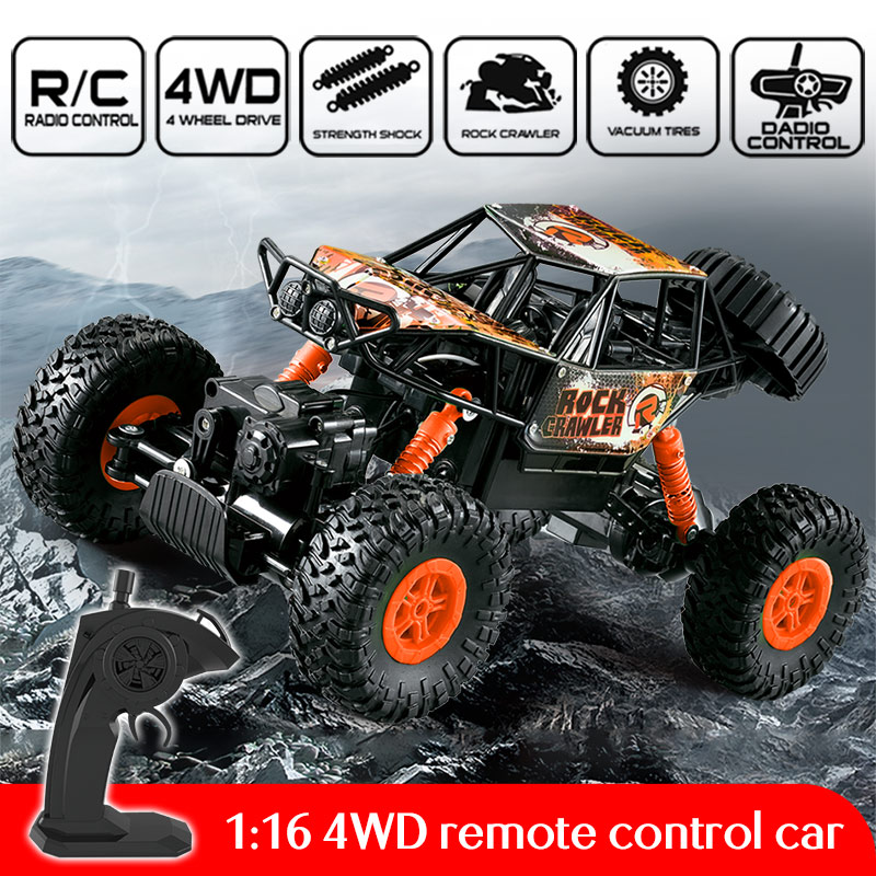 2019 New 2.4G 4WD 1:16 RC Cars High Speed Climbing Rock Car Remote Control Car Model Off-Road Racing Vehicle Toys(China)