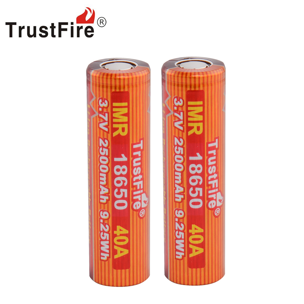 TrustFire IMR 18650 3000mAh 3.7V 40A 11.1Wh High-Rate Li-ion Battery Rechargeable Batteries for E-cigarette LED Flashlight