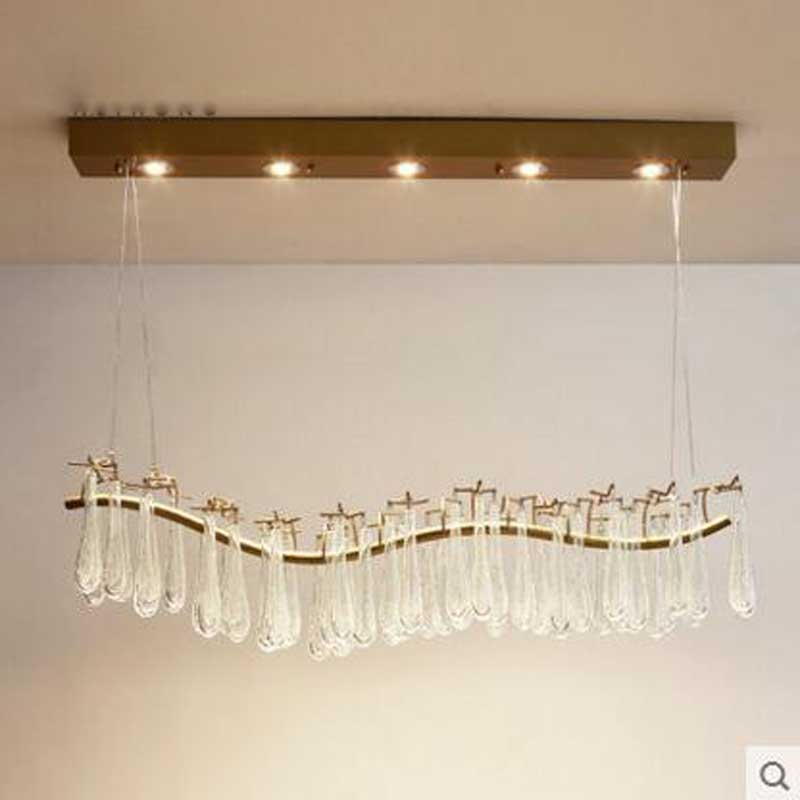 Post-modern Restaurant Chandelier Nordic French Crystal Retro Art Villa Designer Living Room Creative Bar Chandelier led lamps nordic post modern denmark creative chandelier art crown bar coffee shop decoration light dining lights