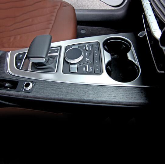 Chrome ABS pour Audi A4 b9 2016 2017 bouton de changement de vitesse de voiture