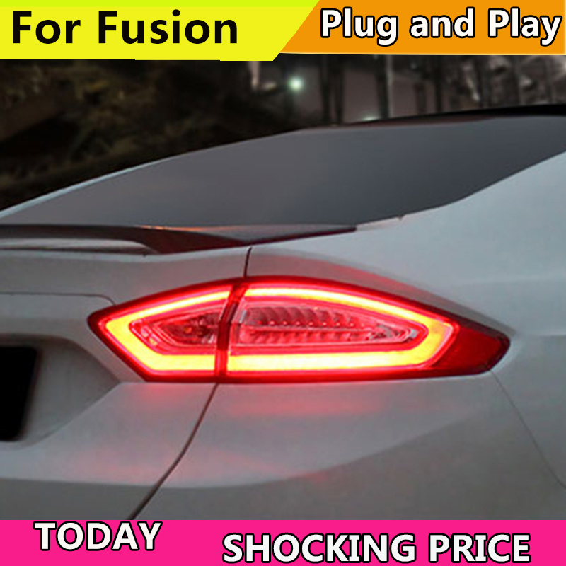 Car Styling Tail Light Case For Ford Fusion Taillights 2013-2016 LED Tail Lamp Rear Lamp DRL+Brake+Park+Signal light