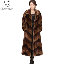 2018 New Mink Fur Jacket Women Winter Luxury Coat Plus Size Loose M 5XL Female Thicken