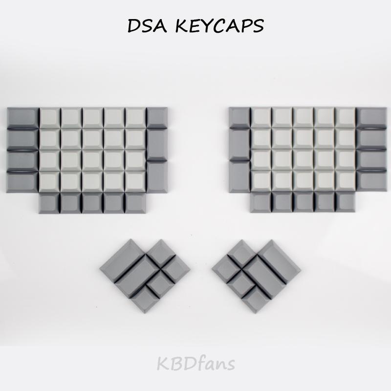 Prix pour Ergodox pbt keycaps blanc dsa pbt blanc keycaps pour ergodox mécanique clavier de jeu dsa profil