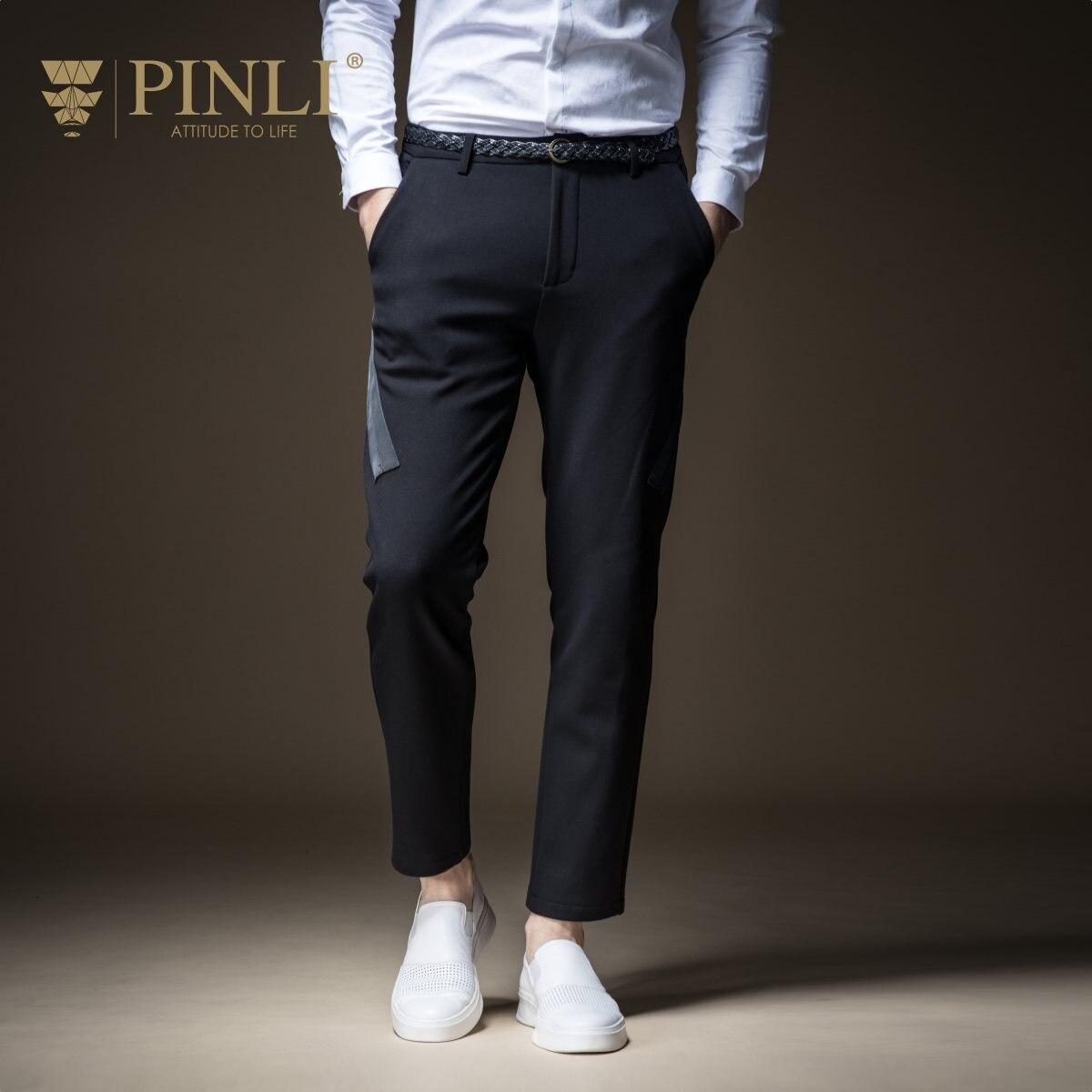 Pantalon Hommes Vente Pinli Produit Fait Automne 2018 Nouveaux Hommes cultivent sa Moralité Loisirs Pantalon B183517488 Velours Épaississement Et Pieds