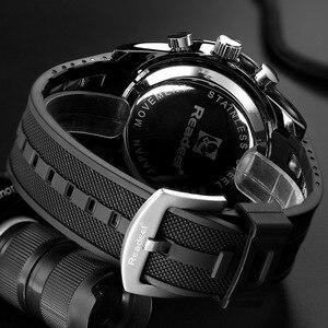 Image 5 - 新 2018 ブランド readeel 男 led ディスプレイ高級メンズ腕時計デジタル軍事メンズクォーツ腕時計レロジオ masculino
