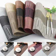PVC Environmental Protection Insulation Pad Waterproof Western Food Mat European Style Table Mats  Resistance Bowl Dish D40