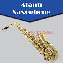 Afanti Music Eb tone / Brass body / Gold Lacquer Alto Saxophone (ASE-911)