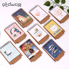 1PC Cute Little Fresh Cartoon Animals Series Mini Table Desk Calendar Office Learning Schedule Table for Kids Study Planning(China)