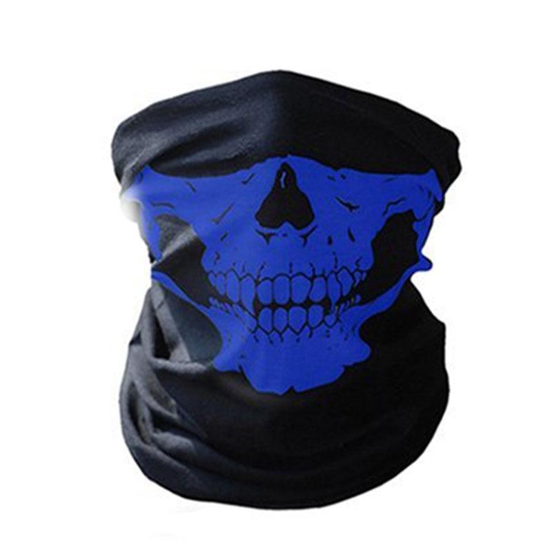 1 шт. для женщин мужчин велосипед Мотоцикл Череп Бандана Шарф средства ухода за кожей шеи маска-шлем для лица - Цвет: blue