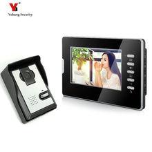 Yobang Security Wired 7″Inch Monitor Video Intercom Doorbell Door Phone Video Intercom Entry Access System 1 Camera 1 Monitor