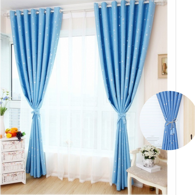 Buy modern elegent stars blackout window for Blackout curtains for kids rooms