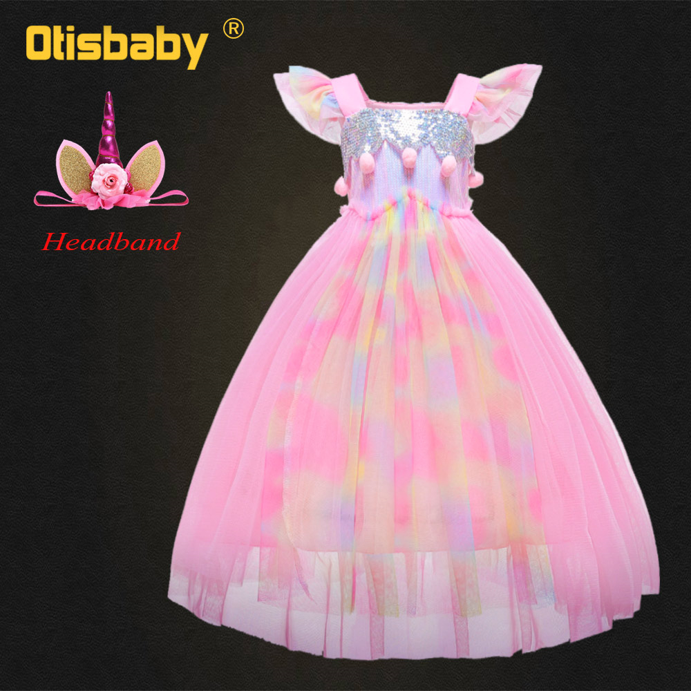 Toddler Christmas Little Pony Party Birthday Tutu Dress Halloween Unicorn Costumes for Girls Holiday Pink Fancy Fairy
