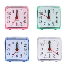 Mini Square Quartz Beep Alarm Clock Plastic Desk Table Travel Trip Portable White/Green/Blue/Pink
