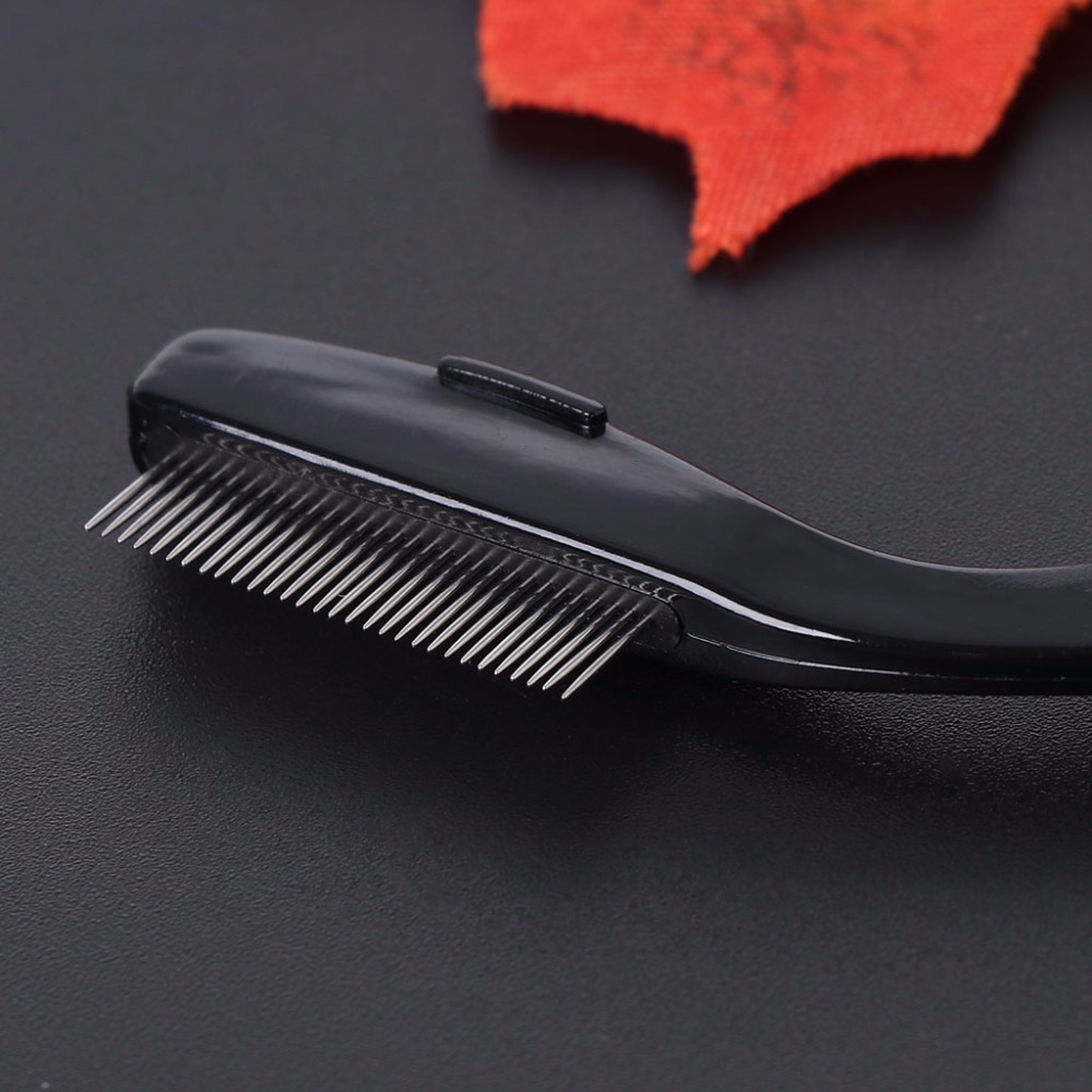 Foldable Fine Toothed Flea Flee Metal Nit Head Hair Lice Comb for Kids Pet Tools