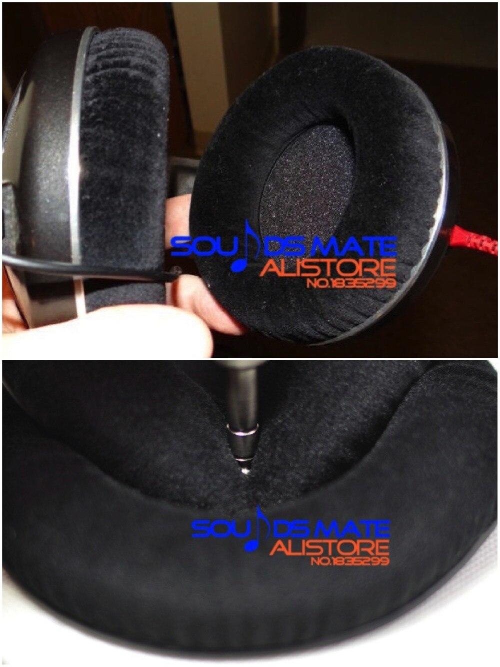 bilder für Velours Ersatzohrpolster-kissen Für Sennheiser HD520 HD530 HD530 II 9-TOUCHSCREEN-DISPLAY HD430 HD250 Liner Kopfhörer