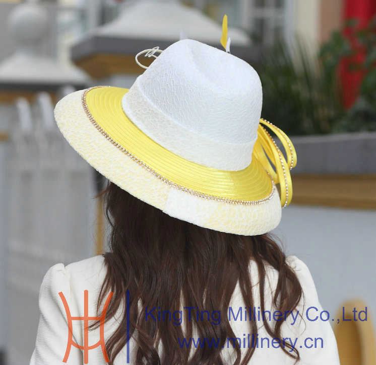 6184d65138c Free Shipping Fashion New Winter Hat Elegant Women Hats Satin Dress Hat Big  Brim Smooth Dome Design Ladies  100% Polyester Made-in Fedoras from Apparel  ...