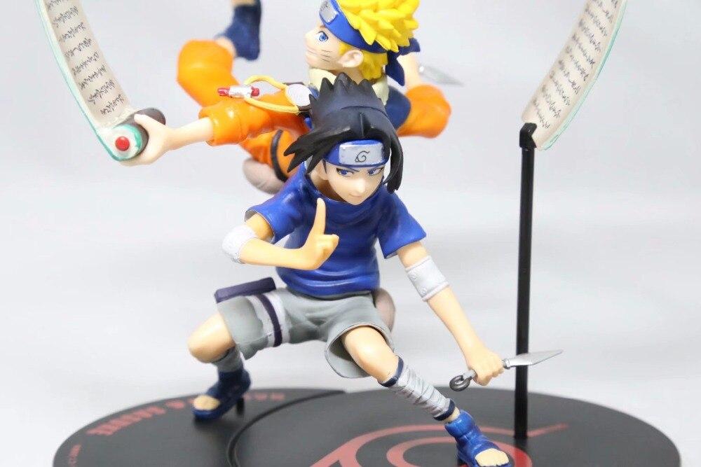 Аниме Наруто Remix uzumaki Naruto и Саске ПВХ фигурку фигурка смолы Коллекция Модель игрушки подарки Косплэй