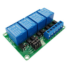FOUR 4 channel relay module 5V 12V 24V high and low level tr