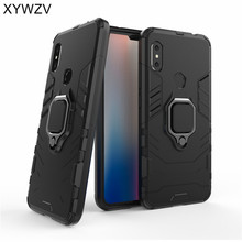 Armor Case Xiaomi Redmi Note 6 Pro Cover Magnetic Metal Finger Ring Holder