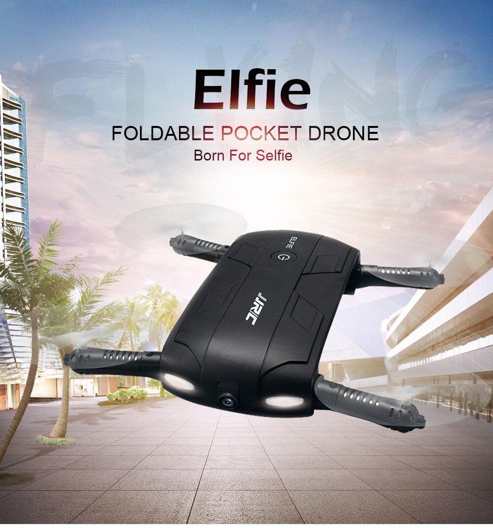 JJRC H37 RC Helicopter ELFIE Foldable Mini RC Selfie Drone Dron WiFi FPV HD G-sensor Headless Mode Drones Control By Phone