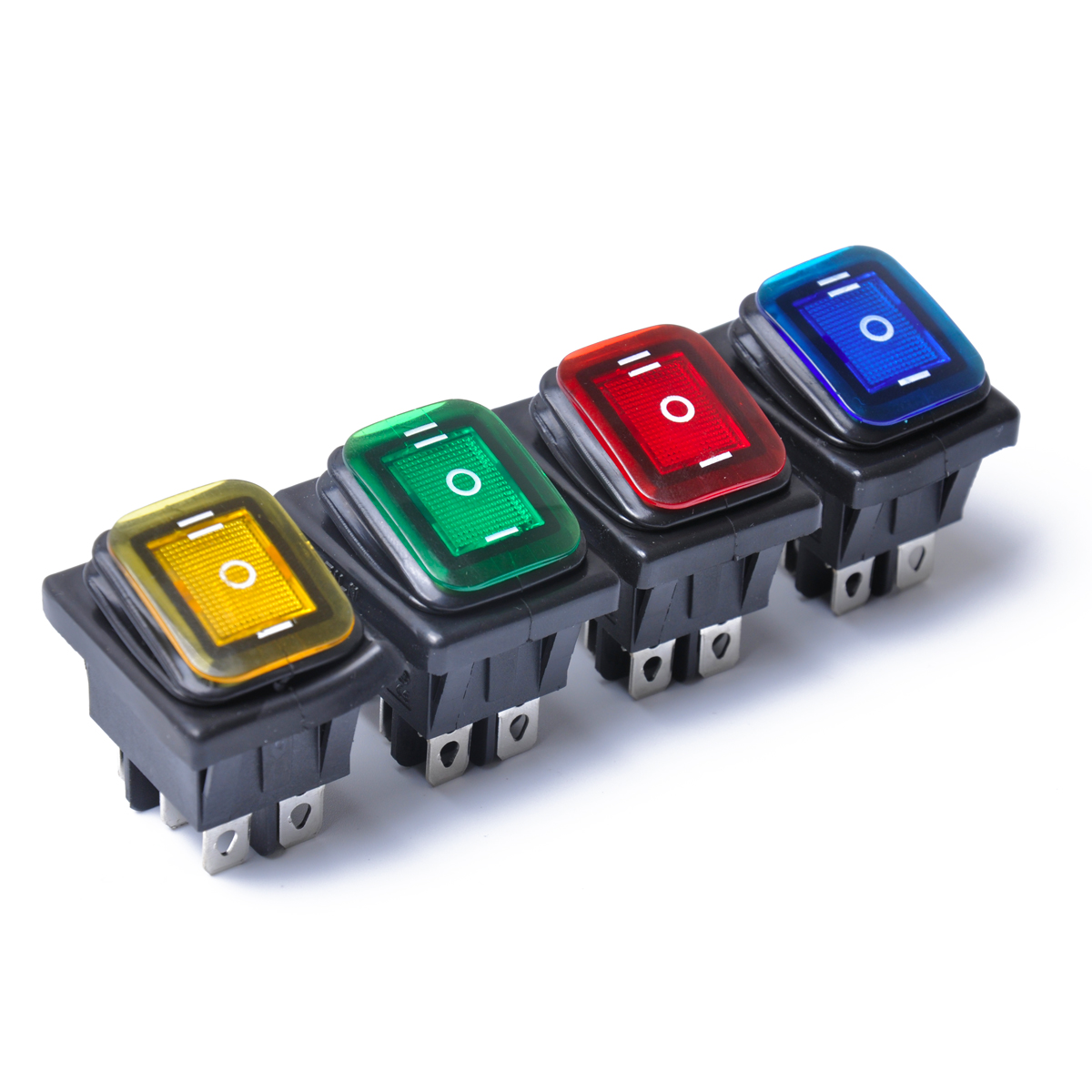 Rocker Toggle Switch On-off-on 4 Pins 12v Dc Car Boat Automobiles Waterproof Led Latching Switches Marine Hardware