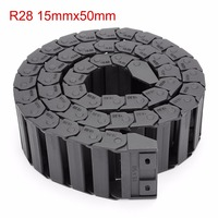 15mm X 50mm R28 Plastic Cable Drag Chain Wire Carrier With End Connector Length 1m For