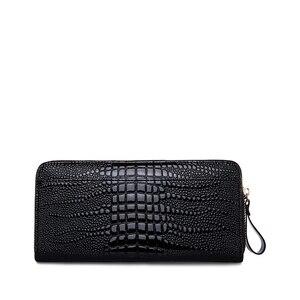Image 3 - ZOOLER الفاخرة العلامة التجارية جلد طبيعي النساء محافظ Vintage محفظة طويلة مخلب حقيبة يدوية الإناث نمط بطاقة محفظة للعملة حقيبة المال