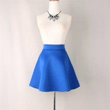 Fashion Grid Design Women Skirt Autumn Winter Elastic Faldas Zipper Mini Sexy Girls Solid Pleated Skirts
