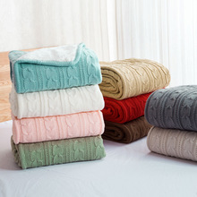 цены 120*180cm Europe type Retro Cotton cashmere handmade Blankets Winter warm Knitted wool blanket Sofa/Bed cover throw blanket