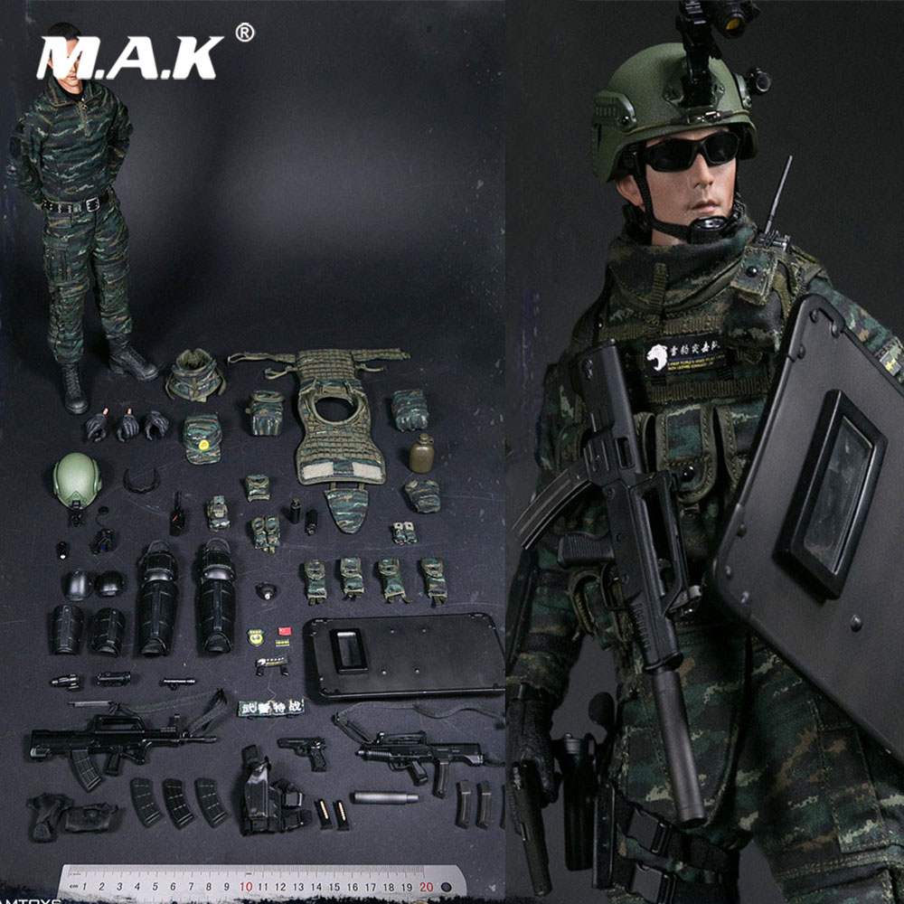 Collectible 1/6 Military Soldier Action Figure Chinese People\'s Armed Police Force SNOW LEOPARD Squadron COMMANDO UNIT TEAM MEMB