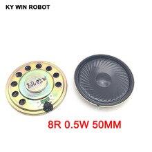 2pcs/lot New Ultra-thin speaker 8 ohms 0.5 watt 0.5W 8R Diameter 50MM 5CM thickness 5MM