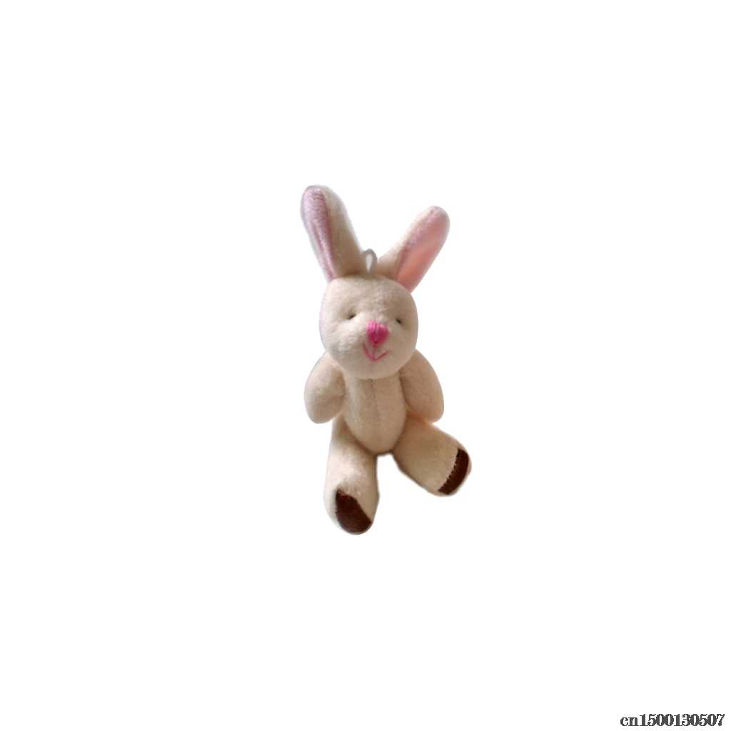 Cute Cartoon Soft Plush Rabbit Doll Backpack Pendant Baby Stroller Hanging Crib Tent Decor Ornaments Kids Toys Gift Drop Ship