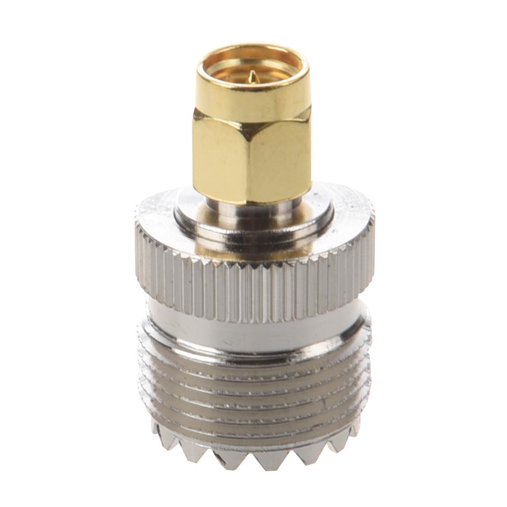 цена на UHF SO-239 SO239 Female to SMA Male Plug Connector Coaxial Adapter