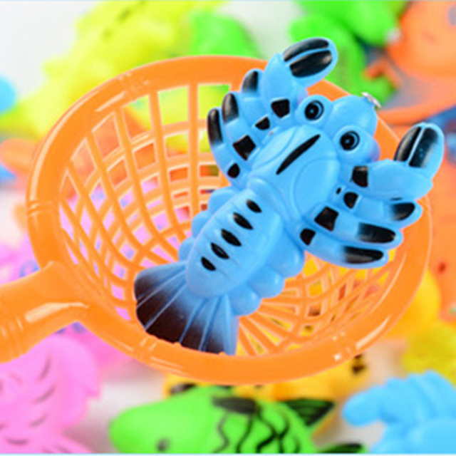 Inflatable pool Magnetic Fishing Toy Rod Net Set For Kids Child Model Play Fishing Games Outdoor Toys WJ469