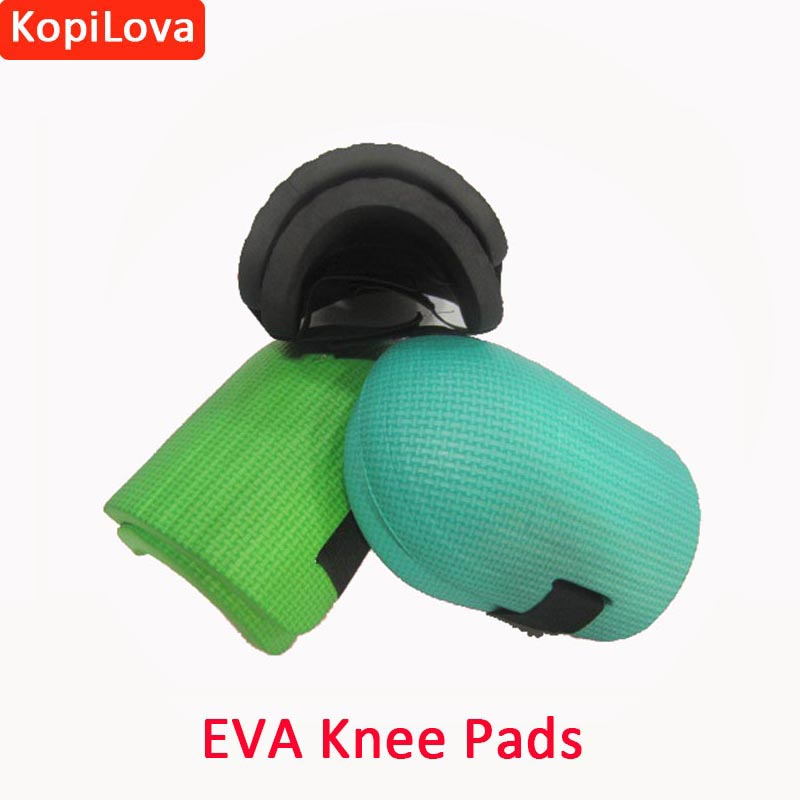 KopiLova 2 Pairs Soft EVA Foam Knee Pads Work Safety Knee Protectors for Outdoor Sprot Garden Workers Builder Random Color new 1 pair soft foam knee pads protectors cushion sport work gardening builder
