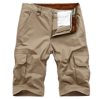 Big Size 30 44 TAPOO Cargo Shorts Men Brand Clothing Straight Loose Multi Pockets Military Mens