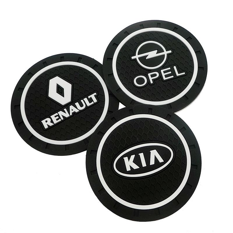 Image 2 - 1pcs Car Styling Pvc non slip coaster Mat Case For Renault Opel Lada Vw Ford Toyota Chevrolet Kia Skoda Volvo Suzuki Hyundai bmw-in Anti-Slip Mat from Automobiles & Motorcycles