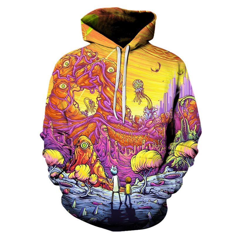 Rick and Morty 3D Hoodies Brand Hoodies Men Sweatshirts Game Hooded Tracksuits Fashion Pullover Fashion Thin Brand Jacekts ...