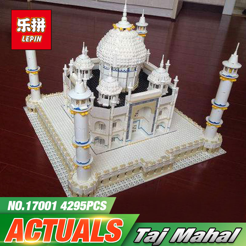 New LEPIN 17001 5952pcs The Tai Mahal Model Building Kits Brick Blocks Toys Compatible 10189 Children Educational Funny Gift lepin 02012 city deepwater exploration vessel 60095 building blocks policeman toys children compatible with lego gift kid sets