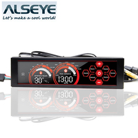 A 100L Driver Place Fan Speed Controller LCD Screen 6 Channels Water Cooling Fan Speed Regulator