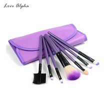 LOVE ALPHA 7 PCS Makeup Brushes Set Tools Make-up Toiletry Kit Wool Eyeshadow Foundation Powder Brush Face Case Cosmetic(China)