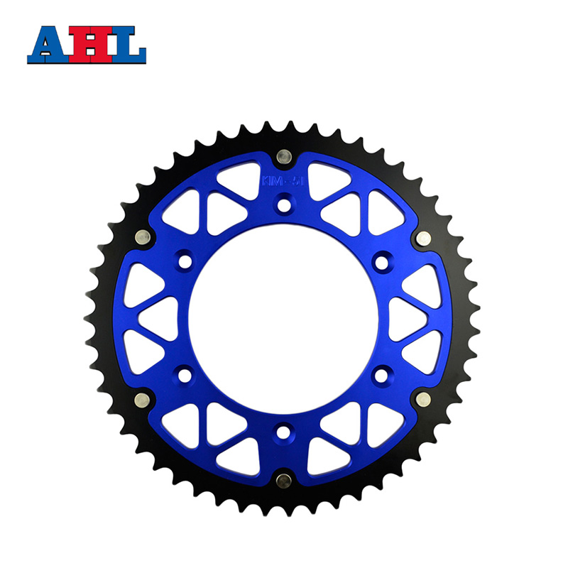 Motorcycle Parts Steel Aluminium Composite 51T Rear Sprocket For HONDA XR250R XR 250R XR250 XR 250 R 1990-1995 Fit 520 Chain h2cnc motorcycle fuel petcock valve for honda xr600r xr250r xr400r xr 250r 400r 600r