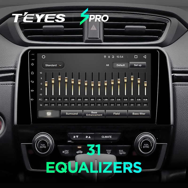 TEYES SPRO Штатная магнитола для Хонда ЦРВ ЦР-В 5 Honda CRV CR-V 5 RT RW 2016 2017 2018 Android 8.1, до 8-ЯДЕР, до 4 + 64ГБ 32EQ + DSP 2DIN автомагнитола 2 DIN DVD GPS мультимедиа автомобиля головное устройство