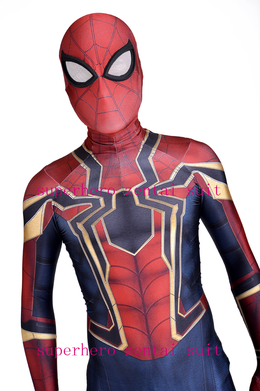 Iron-Spider Homecoming Spiderman Costume Cosplay 3D Print Zentai Iron Spider-man Movies Costumes Spidey Iron Suit