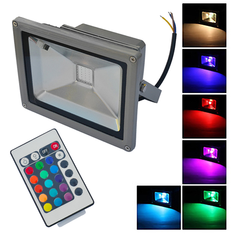 Knowledgeable Led Flood Light 10w 20w 30w Outdoor Lighting Waterproof Ip65 Warm Cool White /rgb Ac85-265v Free Shipping Lights & Lighting